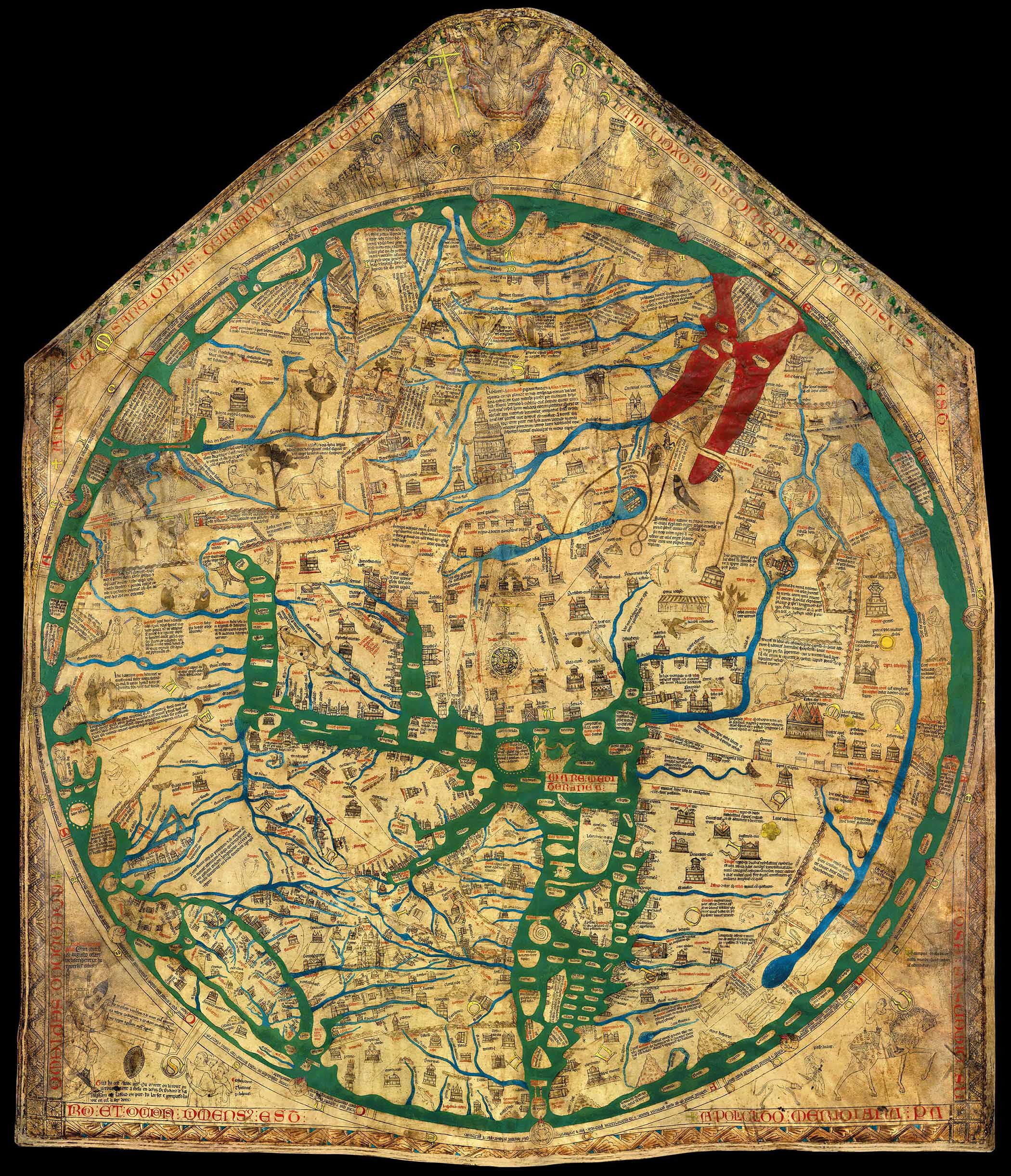Colour Enhanced Mappa Mundi
